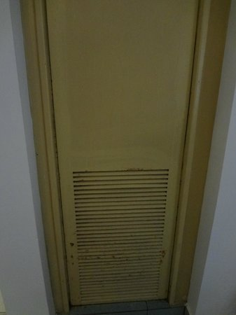 Be Live Experience Hamaca Garden:                   air conditioning unit was behind this rusty door
