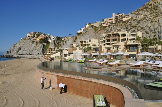 The Resort at Pedregal:                   the pool on the residence side (where kids are allowed)