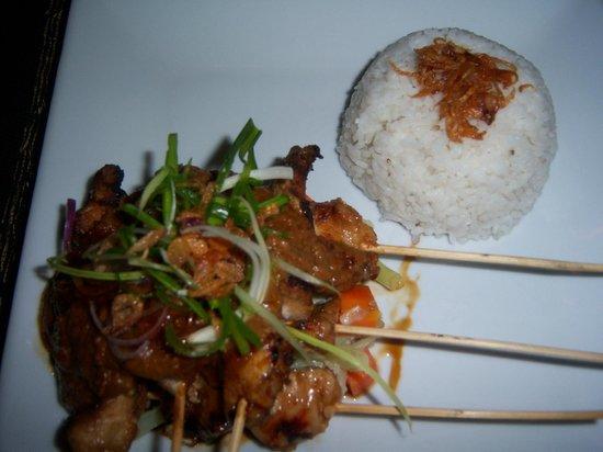 Joglo Restaurant & Bar:                   Good presentation...however, very dry sate.  :(