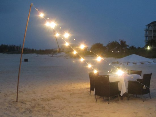 Gansevoort Turks + Caicos:                   Stelle beachfront private dining