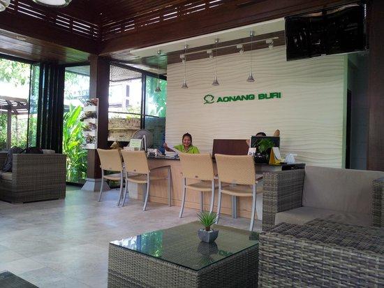 Aonang Buri Resort:                                     front desk