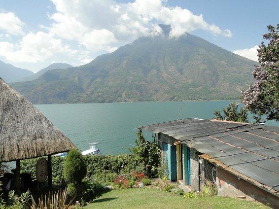 Posada de Santiago:                   Lake Atitlan and San Pedro volcana