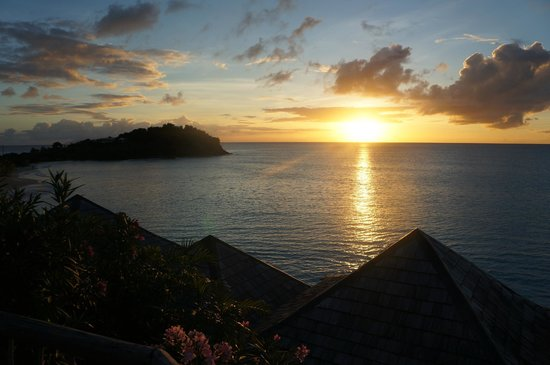 Cocobay Resort:                   Sunset over CocoBay