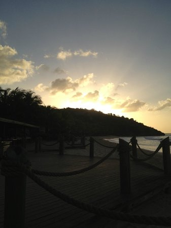 Galley Bay Resort:                                     Sunset from sitting on the rocking chairs
