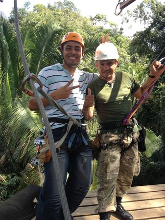"Caves Branch Outpost:                   Our Zip line guides ""Selvin and Edgar"" (the best)"