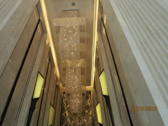 Grande Centre Point Terminal 21:                   Chandellier in the lift lobby