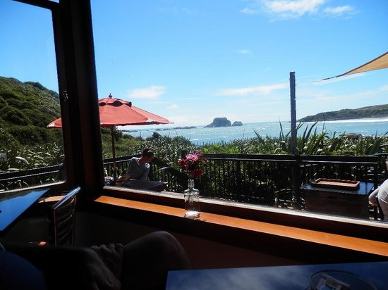 The Bay House:                                     From inside dining area