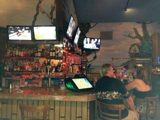 Sammy's Beach Bar & Grill:                   Bar interior