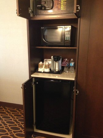 Sheraton Ann Arbor Hotel:                   Room Amenities: Mini Fridge, Coffee Maker, Microwave
