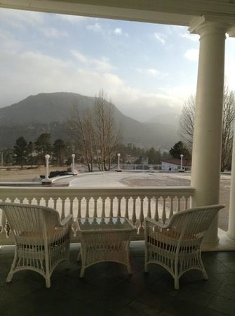 Stanley Hotel:                   wishing it was warm outside to enjoy the chairs on the porch
