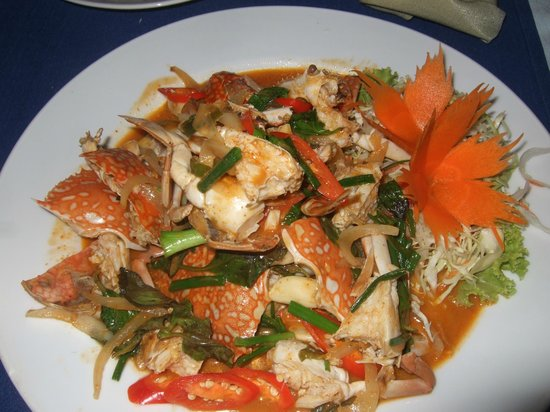 Sala Bua & Lo Spuntino Restaurant :                   Stir-fried Flower Crabs with Herbs
