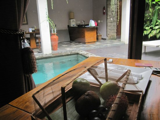 De Uma Lokha Luxury Villas and Spa:                                     view from desk in the room