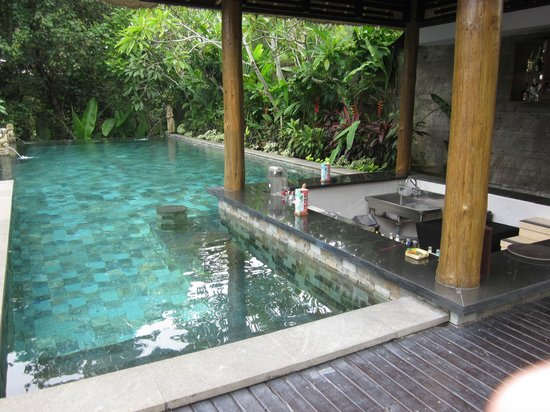 The Lokha Umalas Villas & Spa:                                     their public pool with minibar