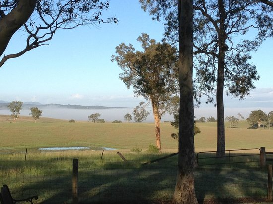Bella Wind Bed and Breakfast: Rolling mist on a February Morning