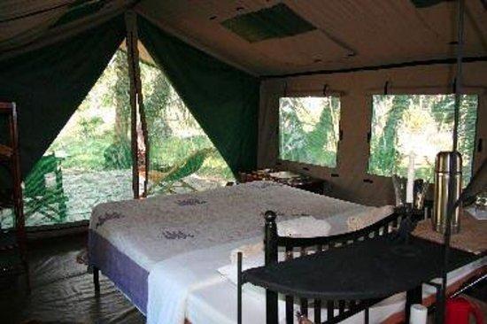 Lake Manze Tented Camp, Selous Game Reserve: Lake Manze - Tent indoor