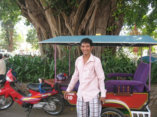 Bou Savy Guest House:                   Our fantastic Tuk Tuk Driver
