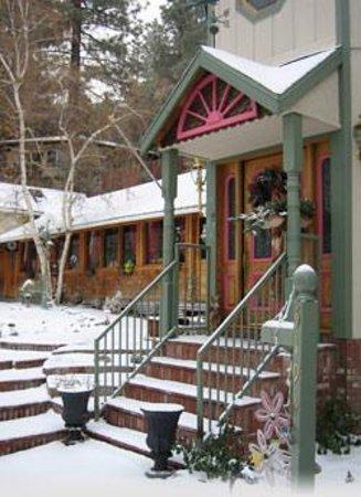 The Rhinestone Rose Inn & Wellness Center at Wrightwood Resort: Let it snow!