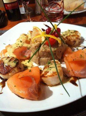 Hotel Au Chene Vert :                   Exemple de plat servi