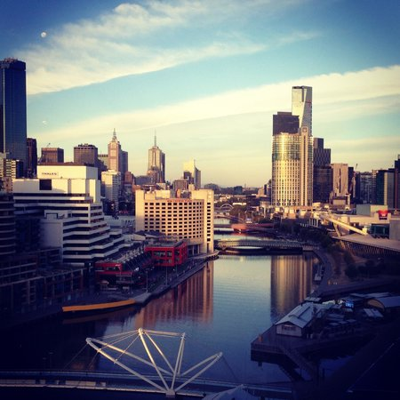Pan Pacific Melbourne:                   View from our room with the token Instgram filter applied