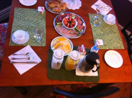 Bluejay Suites Bed & Breakfast:                   the table