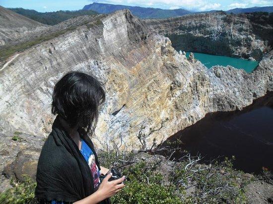 Mount Kelimutu:                                     The Red cave. Tiwu Ata Polo