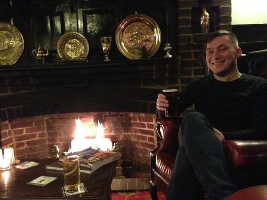 Castle Hotel:                                     A pint by the fire