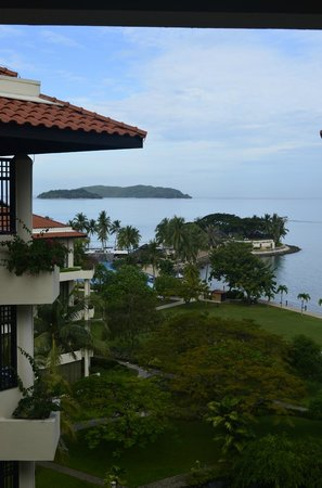 Shangri-La's Tanjung Aru Resort & Spa:                                     From a balcony