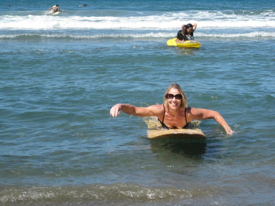 The Little Surfmaid Resort:                                     MY MOM SURFING!