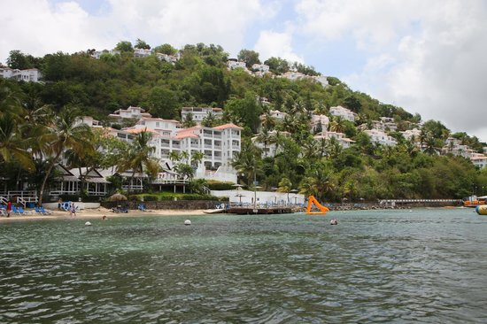 Windjammer Landing Villa Beach Resort:                   View of the property from the sea