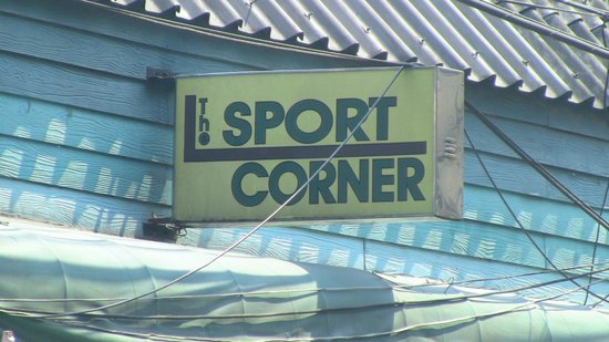 The Sport Corner:                   Sign facing Sukhumvit Soi 20