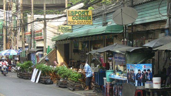 The Sport Corner:                   View from street