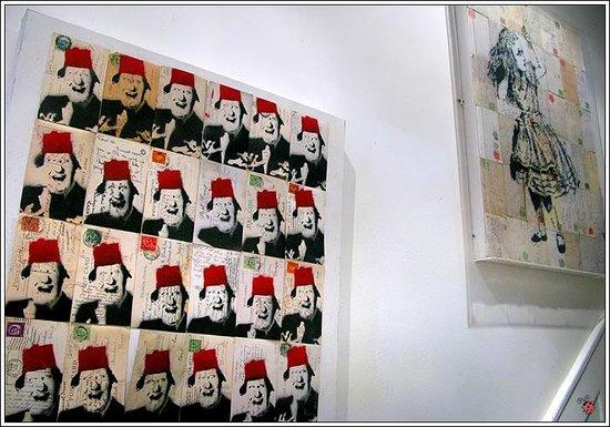 At Home London B&B:                   Art in corridors