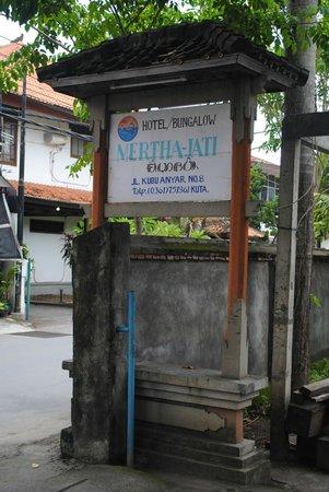 Mertha Jati Hotel :                   sign