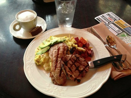 The Driskill:                   Cafe Green Eggs & Ham
