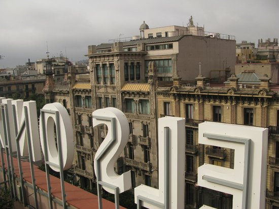 Onix Rambla Hotel:                   View from the rooftop