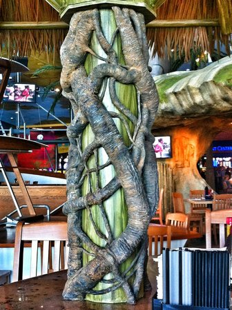 Margaritaville:                   Detail of tree cabana