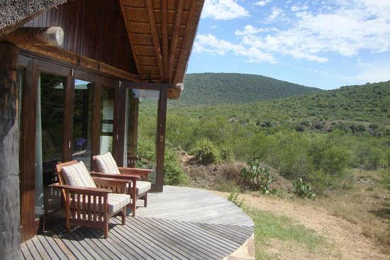 Kwandwe Great Fish River Lodge:                   View from your own lodge