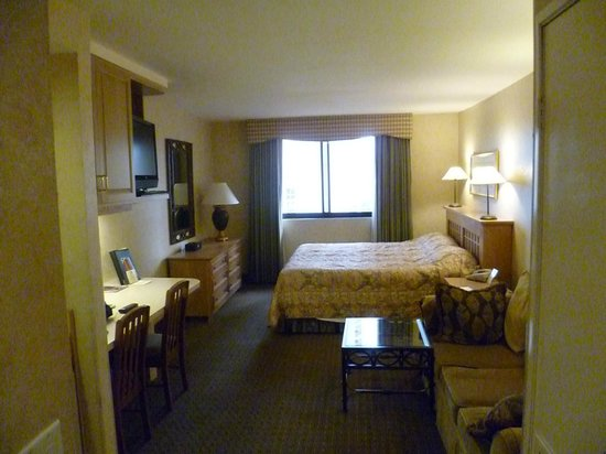 The Carriage House:                   Room 718 which faces away from Strip