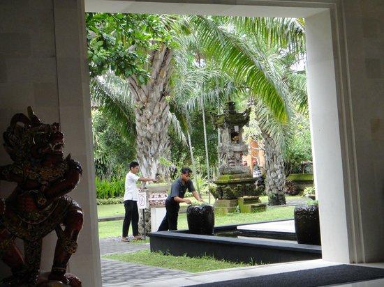 Griya Santrian:                   Gardens from Lobby