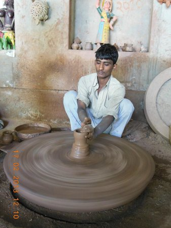 Govind Hotel:                   Pottery making