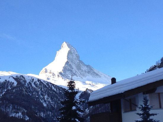 Stoked Swiss Ski and Snowboard School:                   A view from our balcony