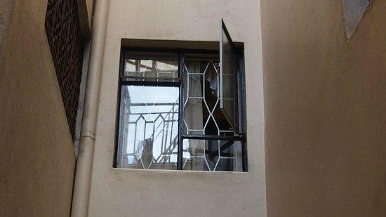 Hotel Green Court:                   Fenster