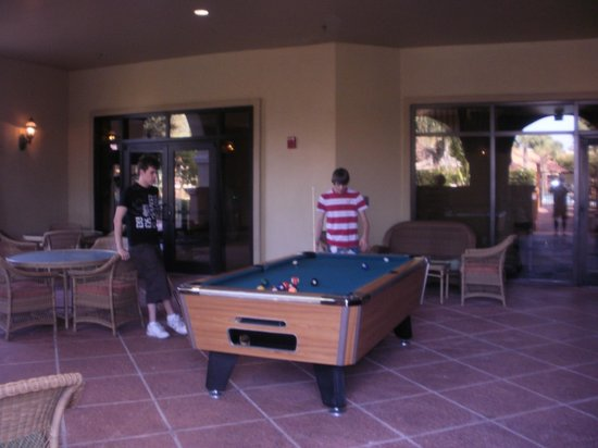 Doubletree by Hilton Orlando at SeaWorld:                   pool table at hotel