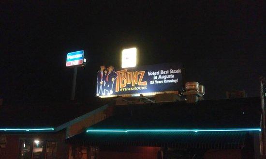T Bonz Steakhouse of Augusta:                   Sign