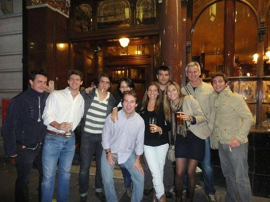 London Tavern Trails:                   Nice group! after the tour, still going