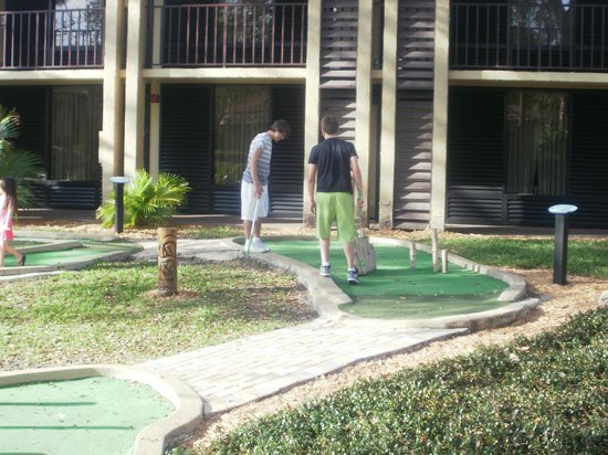 Doubletree by Hilton Orlando at SeaWorld:                   crazy golf at hotel