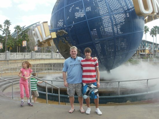 Doubletree by Hilton Orlando at SeaWorld:                   me and son universal
