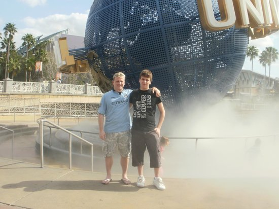 Doubletree by Hilton Orlando at SeaWorld:                   me and son at universal...