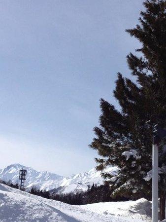 The Phat House:                   晴れた日にはホテルから八方山が見えました!