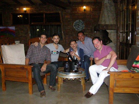 Posada El Encuentro: Wine testing